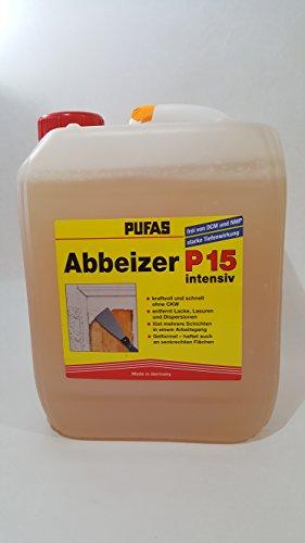 Pufas Abbeizer P15 intensiv 5 Liter Kraft-Abbeizmittel für Lacke Lasuren Farben