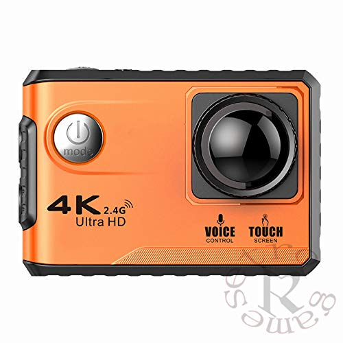 ZYJANO Action Camera Ultra-HD Sport Action Camera 4K met touchscreen/spraakbediening/afstandsbediening/2,4 GHz WiFi Gratis App/GPS-positionering