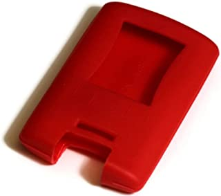 Red Silicone Key Fob Cover Case Smart Remote Pouches Protection Key Chain Fits: Corvette C6 C7 08-13
