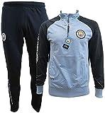 Manchester City F.C. Chándal Pantalones y Chaqueta Original con Licencia Oficial Jumpsuit Tracksuit (XL Extra Large)