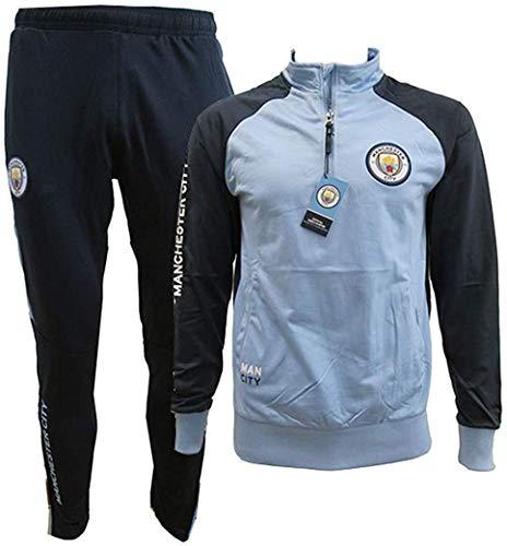 Manchester City F.C. Chándal Pantalones y Chaqueta Original con Licencia Oficial Jumpsuit Tracksuit...