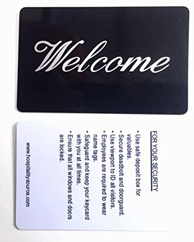 Hospitality Source Welcome Message RFID Hotel Key Cards- S50 chip Type, 200 per case, 0.299 Each