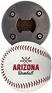 Arizona Bottle Opener, Made from a real Baseball, The BaseballOpener, Cap Catcher, Fridge Magnet