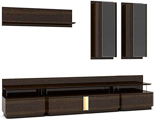 Moderna combinación minimalista muebles de la sala de televisión Mueble de televisión -1 y 1 y 2 armario repisa de muebles de alta calidad,Brown