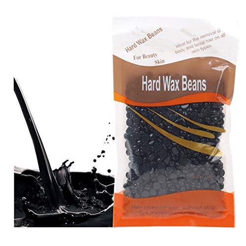 Hard Wax Beans Beauty Salon Hair Remover Dedicated Pearl Shape Granules Hot Film Wax Beads for Legs, Underarms, Chest and Back Depilatory Set (noir, 1pc)