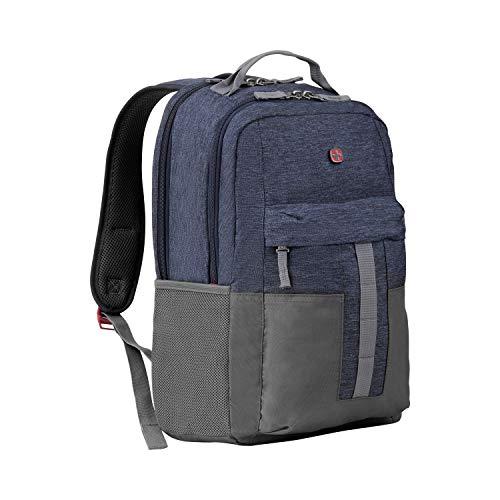 Wenger Ero Laptoprucksack - 16'' Laptopfach 12,9'' Tabletfach Seitentaschen Zubehörfach Damen/Herren Blau Denim