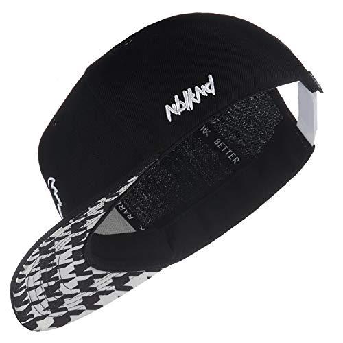 Nebelkind Snapback Cap Schwarz Hahnentritt Größenverstellbar Unisex One Size