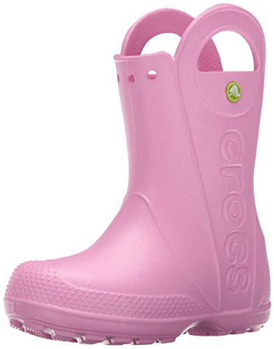 Crocs Handle It Rain Boot K, Botas de Agua Unisex Niños, Rosa (Carnation), 22/23 EU