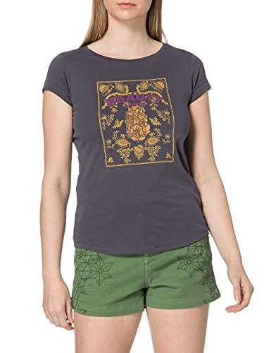 Sisley T-Shirt 3L7NL12QS, Grigio 041, L Donna