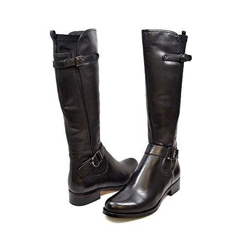 SoleMani Avigial 13' Slim Calf Women's Black Leather Boot 9.5