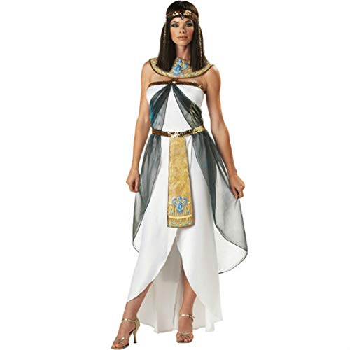 IKAO Disfraz de reina de Cleopatra egipcia, para mujer, diosa de Egipto, disfraz de Halloween