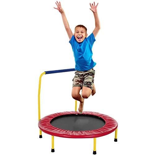 RIYIFER Equipo De Fitness para Niños, Trampolín para Deportes Al Aire Libre, Juguetes De Fitness para Patio para Niños, Equipo De Fitness para Niños De 3 A 8 Años,Rojo,32