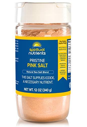 Spiritual Nutrients Pristine Pink Salt | Untreated, Solar-Dried Sea Salt Delivering Critical Trace Minerals | Non-GMO, Vegan | 12 oz.