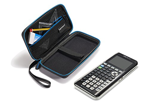 Supremery for Texas Instruments TI-84 CE Plus Graphing Calculator Hard Carrying Travel Storage Case Bag - Black/Blue Photo #5