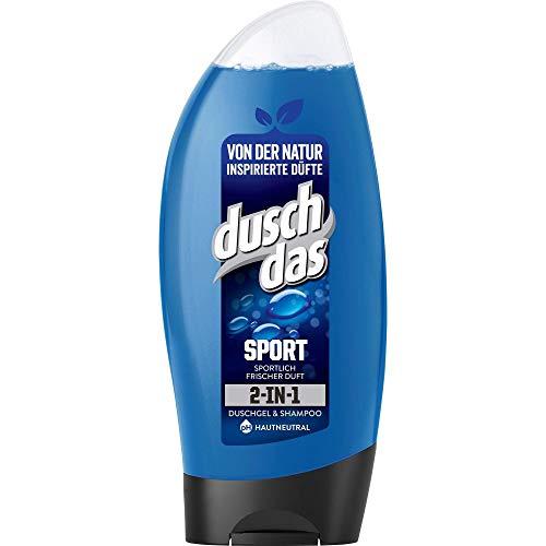 Duschdas 2-in 1 Duschgel & Shampoo Sport mit sportlich-frischem Duft dermatologisch getestet 6 x 250 ml