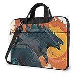 Godzilla Monster Cartoon Laptop Bag Multi-Size Briefcase Shoulder Messenger Bag Water Repellent Laptop Bag Satchel Tablet Bussiness Carrying Handbag Laptop Sleeve for Women and Men
