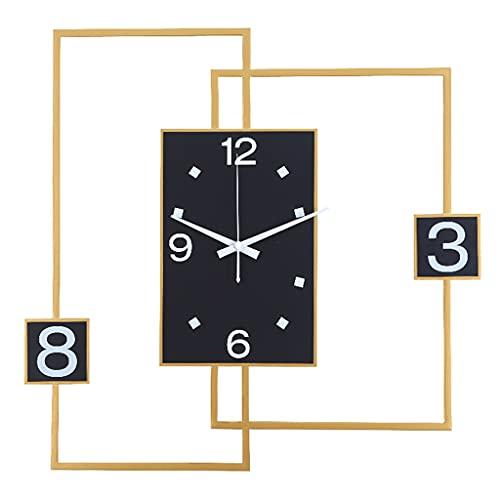 HEKRW Reloj Sala de Estar Moderno Reloj de Pared 3D Metal Relojes de Oro Reloj de Mesa Reloj de Escritorio Decoración del hogar Reloj de Pared