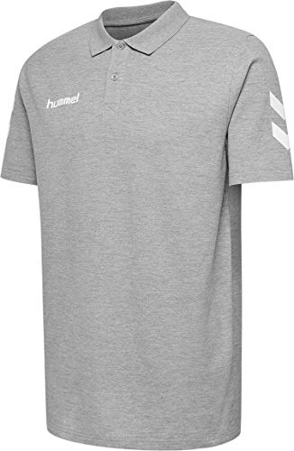 Hummel Herren Hmlgo Cotton Polo Hemd, Grey Melange, XL EU