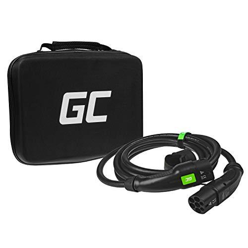 Green Cell® GC Type 2 Ladekabel für EV Elektroautos PHEV | 22kW | 32A | Typ 2 zu Typ 2 | 5 Meter | 3-Phasig | Kompatibel mit Tesla Model 3/S/X, BMW i3, Leaf, ZOE, E-Tron, Kona, eGolf, fortwo, Ioniq
