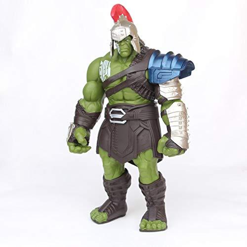 LICCC Juguetes 35cm Avengers Hulk Thor 3 Ragnarok Manos movible Martillo de Guerra Hacha de Batalla de Gladiador Hulk BJD Figura de acción de Juguete de Modelo (Color : A 30CM)