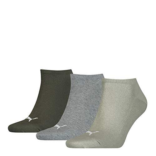 PUMA Unisex Sneaker Trainer Plain Socken, Meadow Green, 43/46