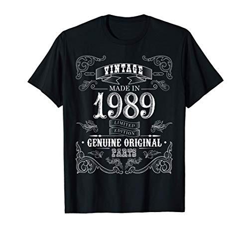 Vintage Made in 1989 Regalos de cumpleaños 32nd Bday 32 Year Camiseta