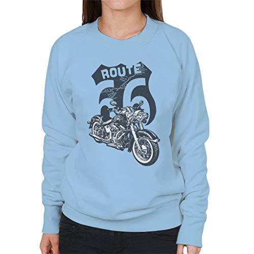 Route 66 Retro Road Map Shield Women's Sweatshirt