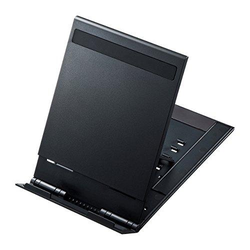 サンワサプライ モバイルタブレットスタンド 5段階角度調整 折りたたみ可 薄型 ブラック PDA-STN11BK