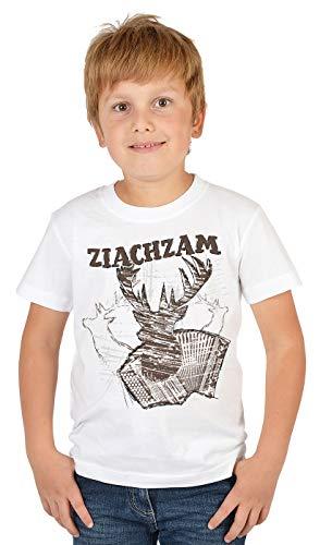 Trachten-Shirt für Jungs Kinder T-Shirt Ziachzam Motiv Tracht passend zur Lederhose Buben Leiberl