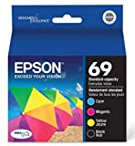 Genuine Epson 69 ink cartridges 4 Pack in Original Bulk Packaging for Epson CX6000 CX7400 CX7450 CX8400 CX9400F CX9475 NX100 NX1