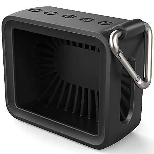 TUSITA Estuche de Magnética Compatible con JBL GO 2 - Funda de Silicona Protectora - Accesorios para Altavoces Bluetooth