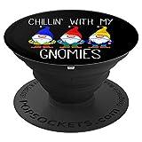Chillin With My Gnomies Weihnachten Gartenzwerg Xmas God Jul - PopSockets Ausziehbarer Sockel und Griff für Smartphones und Tablets