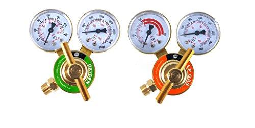 SÜA - Oxygen and Propane/Propylene Regulators Welding Gas Gauges -Pair - Rear Entry - LDB series