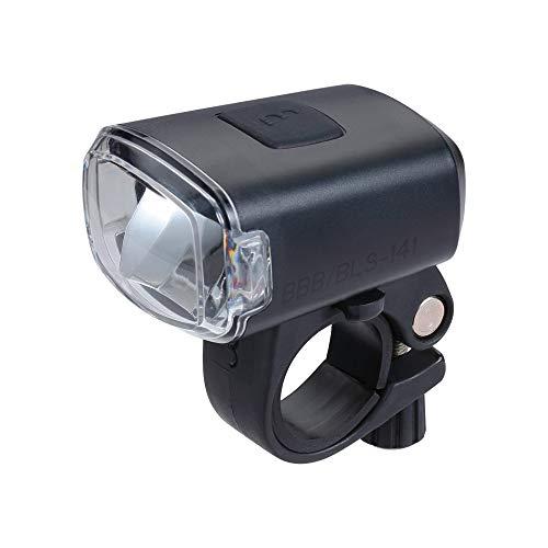 BBB Cycling Fahrradlicht Stud USB Wiederaufladbar Frontscheinwerfer Wasserdicht   MTB Urban Road 130 Lumen BLS-141, Schwarz  