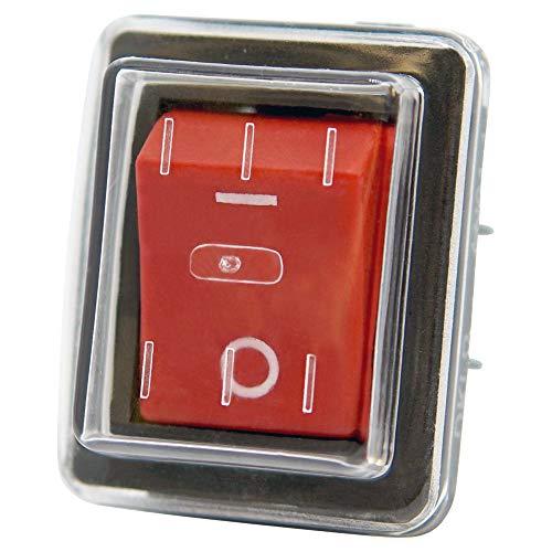 Wippschalter ON-OFF 230V AN01 mit Schutzkappe IP55, TÜV geprüft - Baugleich KEDU HY12-9-7