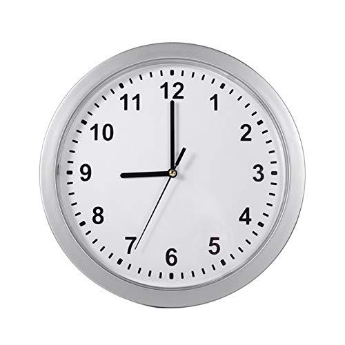 Reloj seguro, lugar perfecto Reloj de pared ABS Compartimento secreto seguro, tres estantes, plata, oficina, estudio, sala de estar para el hogar