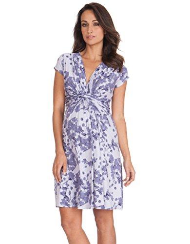 Seraphine Lavendel Blossom Knoten Vorne Umstandskleid - violett - 32