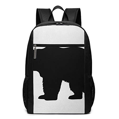 OMNVEQ Mochila Escolares Grizzly Alaskan Bear Wildlife, Mochila Tipo Casual para Niñas Niños Hombre Mujer Mochila para Ordenador Portátil Viaje
