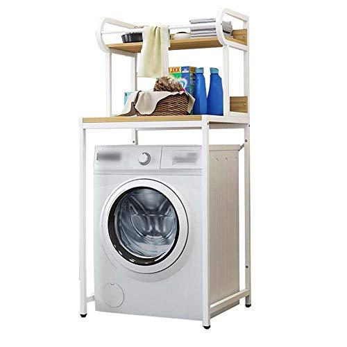 XQHD Estanteria sobre Inodoro WC Lavadora Estantería De Almacenamiento, Ahorra Espacio Almacenamiento Cuarto Baño para Baño,White