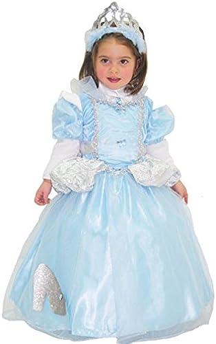 respuestas rápidas Disfraz de Carnaval Carnaval Carnaval Cenicienta 4ANNI azul celeste  Sin impuestos