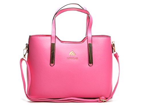 LONGCLASS Pinke Tasche Damen ELEGANTO Damen Taschen pink Damentasche Schultertasche Damen pink Handtaschen Damen pink Umhängetasche Damen...