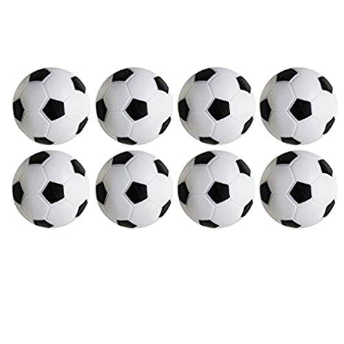 Wenosda Foosball Table Soccer Football Sport Toy Game Set of 8pcs(32mm,white & black)