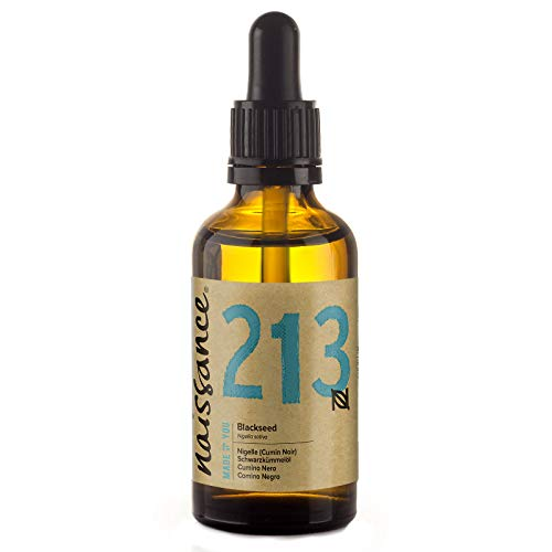 Naissance Huile Végétale de Nigelle (Cumin Noir) (n° 213) - 100% pure - 50ml - Flacon en verre ambré avec pipette