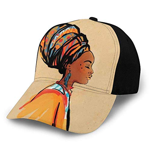 JONINOT Sombreros Unisex Gorras de béisbol Sombreros Sombrero de papá Mujer étnica con Pendiente de Plumas exóticas y Bufanda Arte Zulu Hippie