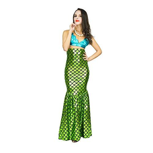 SEA HARE Traje de la Sirena del Vestido Mujeres