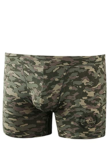 Doreanse Underwear Herren Hipster Pants Modal Retro Boxershort Camouflage L