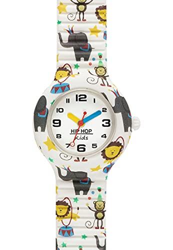 Orologio HIP HOP BAMBINO KIDS FUN quadrante MONO-COLORE BIANCO movimento...