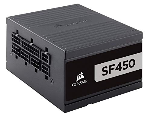 Corsair SF Series, SF450, 450 Watt, SFX, 80+ Platinum Certified, Fully Modular Power Supply (Renewed)