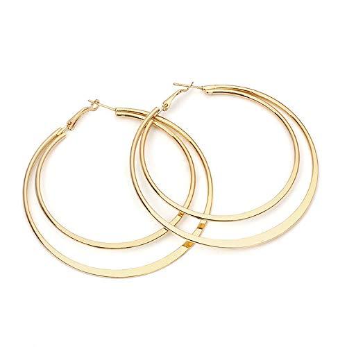 Alwayswin Große Ohrringe Frauen Einfache Runde Ohrringe Mode Wild Ladies Ohrringe Fashion Jewelry Creolen Silber Ohrringe Damen Elegant Party Ohrringe Böhmische Ohrringe Geschenk