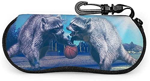 MODORSAN Baloncesto Deportes Baloncesto-Grano de madera Baloncesto Mujeres Hombres Estuche para gafas con mosquetón